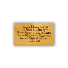 Soar on Wings like Eagle MTD rubber stamp Christian bible verse Isaiah 40:31 CM3