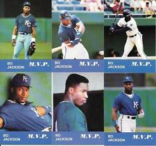 BO JACKSON (6) CARD  1990 ODDBALL HARD TO FIND CARDS,  FREE COMBINED S/H