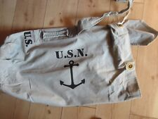 USN Denim Seesack Canvas Duffle Bag Weiß US Navy Army Marines USMC Vietnam NAM 1
