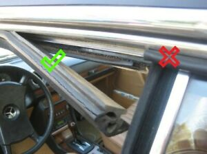 2nd choice SET front rubber on frame/window A-C pillar W123 C123 Coupe CE/CD