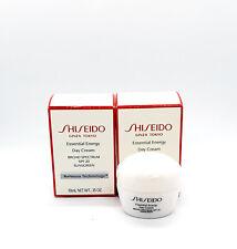 2 x Shiseido Essential Energy Day Cream Broad Spectrum SPF 20 .35oz/10ml = 20ml