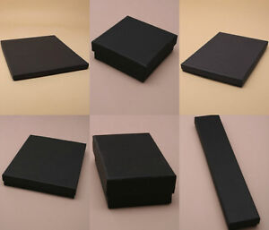 1 x BLACK JEWELLERY GIFT BOX RING NECKLACE BRACELET EARRINGS WATCH SMALL PRESENT