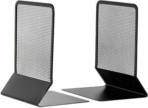 Mesh Bookends By Osco  Black In A Pack of 2