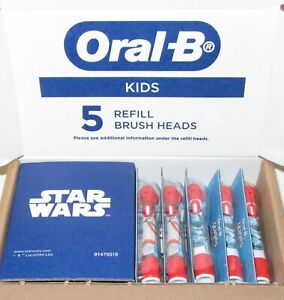 New- Sealed Star Wars Genuine Kids Oral- B Star Wars refill brush heads 5 count