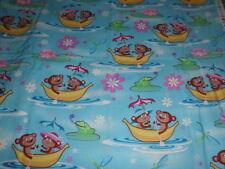 HTF/OOP Timeless Treasures Fabric-Kidz-Banana Boat/Monkies-1 Yard-Darling!