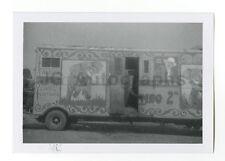 Cristiani Bros. Circus - Elephant Truck - Vintage Glossy Snapshot - 1958