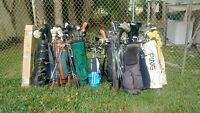 Golf clubs complete sets used