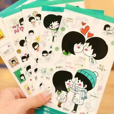 5 pcs Sweet Korean Lovers Sticker PVC Stickers Diary Decoration Sticker