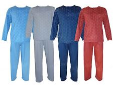 MENS PJ'S PYJAMAS SET GENTS NIGHT WEAR LONG SLEEVE TOP TROUSER LOUNGE SUITS 2PCS