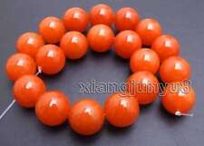 20mm Round Natural China Red Jade Beads for Jewelry Making DIY Loose Strand 15''