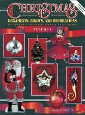 Antique Vintage Christmas Ornaments Lights Decorations Santas / Book + Values