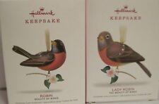 2018 HALLMARK  -ROBIN & LADY ROBIN (LTD QTY) - THE BEAUTY OF BIRDS - MINT IN BOX