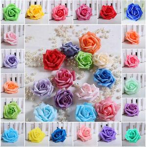 50-200PCS 7-8cm PE Foam Roses Artificial Flower Wedding Bride Bouquet Decor DIY