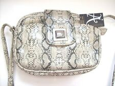 "New with Tags  ACCESSORIZE Bag with adjustable long Strap 8""x6""x2"" Snakeskin"
