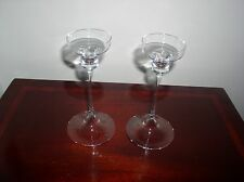 2 CRYSTAL GLASS CANDLEHOLDERS