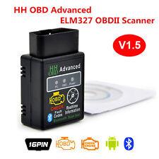 HH OBD ELM327 Advanced Bluetooth V1.5 ODB2 OBDII Auto Diagnostic Scanner Android
