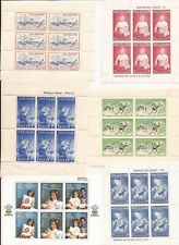 New Zealand -(21 Souvenir Sheets)-Semi-Postals & regular issues