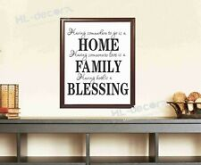 Unframed Quotes Home Family Blessing Poster Canvas Print Decor high quality