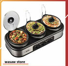 Triple Slow Cooker 31.5 QT, Stainless Steel Rests Stainless Steel Manual Silver photo