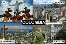 SOUVENIR FRIDGE MAGNET of COLOMBIA BOGOTA