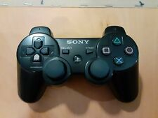 Black Sony PlayStation Dualshock 3 sixaxis Controller OEM - with charging cable