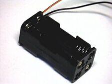 Batteriehalter für 4x Micro (AAA) mit Anschlußkabeln (Blockanordnung)