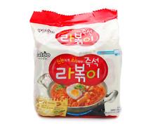 Korean Instant Topokki Taste Noodle PALDO RAPOKKI 4pack Set, Hot Spicy Ramen