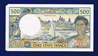 TAHITI PAPEETE 500 FRANCS 1970 PIC25A X-FINE/AU (EATEN BY MOTH) SIGN 1