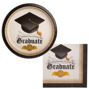 Graduation Party Paper Dessert Plates Chalkboard Style Graduation Party 8 Small Plates Per Pack Graduation Party Supplies