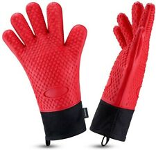 New listing 2pcs Food Grade silicone Oven gloves oven mitts Heat resistant up to 446°F gift