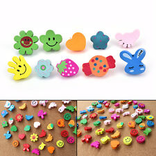 10xMulti-Coloured Cartoon Assorted Push Pins Drawing Cork Board Office Supply JR