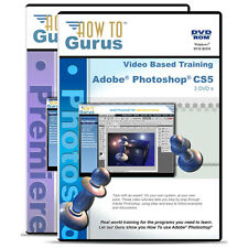 New Adobe Photoshop CS5 and Premiere Pro CS4 Tutorial Training 5 DVDs 40 Hours