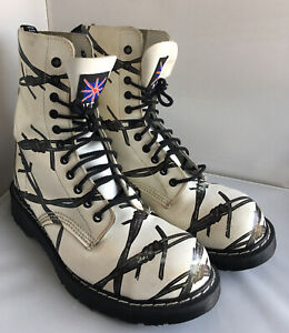 Solovair NPS Made In England Steel Toe 11 Eye Limited Edition Boots - UK Size 8