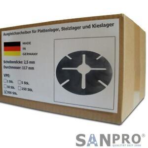 300 x Ausgleichsscheiben 2,5 mm für Gummi Plattenlager Stelzlager Terrassenlager