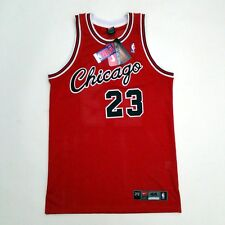 100% Authentic Michael Jordan Rookie Bulls Red Nike NBA Jersey Size 44 L
