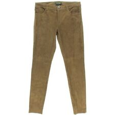 Ralph Lauren All Suede Leather Tan Pants NWT Jean Style Size 16 RARE!