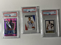 3-Card Lot: Zion Williamson & Luka Doncic PSA 9 Rookie Card And Stickers