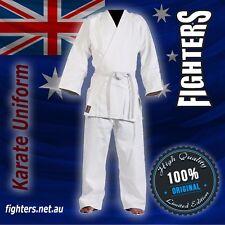 KARATE UNIFORM SIZE 000 to7 BEST QUALITY&FIT UNIFORMS 8Oz65/35 cotton polyester