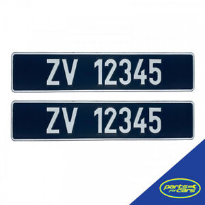 Custom Ireland Vintage Car Registration Number Plate - Pressed Metal (2x Plates)