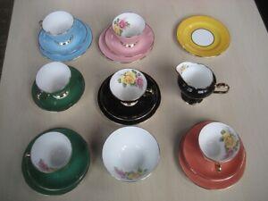 Edwardian Harlequin bone china tea set 22 ct gold rims