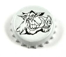 BIER SODA Tapa de botella EE.UU. Blanco Cap - Jabalí Cabeza Verraco Angry cerdo