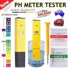 Water PH Meter Tester Aquarium Pool Pen Digital Hydroponics Portable Test Kit FE