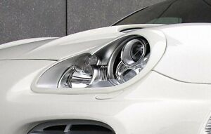 Eyebrow Kit MG Lamp Spoiler Eyes Kit Spoiler Cover (fit for Porsche Cayenne 955)