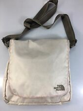 The North Face Beige Lightweight Cross-Body Messenger Bag Hidden Magnets