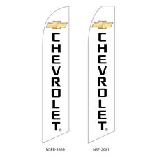 TWO  Chevrolet 2 15 foot Swooper Feather Flag Sign
