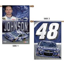 """JIMMIE JOHNSON #48 LOWE'S 28""""X40"""" DOUBLE SIDED BANNER FLAG BRAND NEW WINCRAFT"""