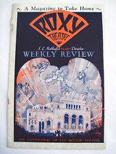 "Stunning 1930 ""Roxy Theatre Weekly Review Magazine"" For Motion Pictures *"
