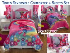 TROLLS Movie Full/Double COMFORTER +SHEETS Set Bed Room In a Bag Show Me A Poppy