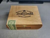 "6.75x3.5x3"" Vintage Don Tomas Wood Cigar Box Collectible Home Decor"