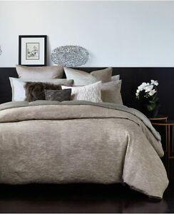 NEW Contemporary 3pc DKNY Donna Karan Home ALLOY QUEEN DUVET Cover SHAMS SET